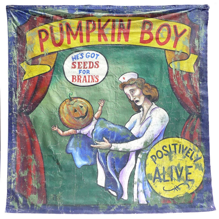 Pumpkin Boy Circus Side Show Banner 1