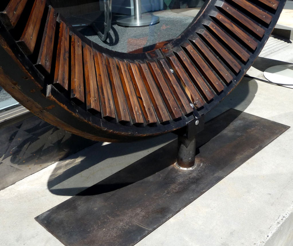 Pennsylvania Water Mill Large Wooden Gear At 1stdibs