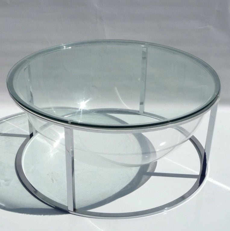 Http 1stdibs Com Furniture Tables Coffee Tables Cocktail Tables Lucite Chrome Terrarium Coffee Table Id F 538843
