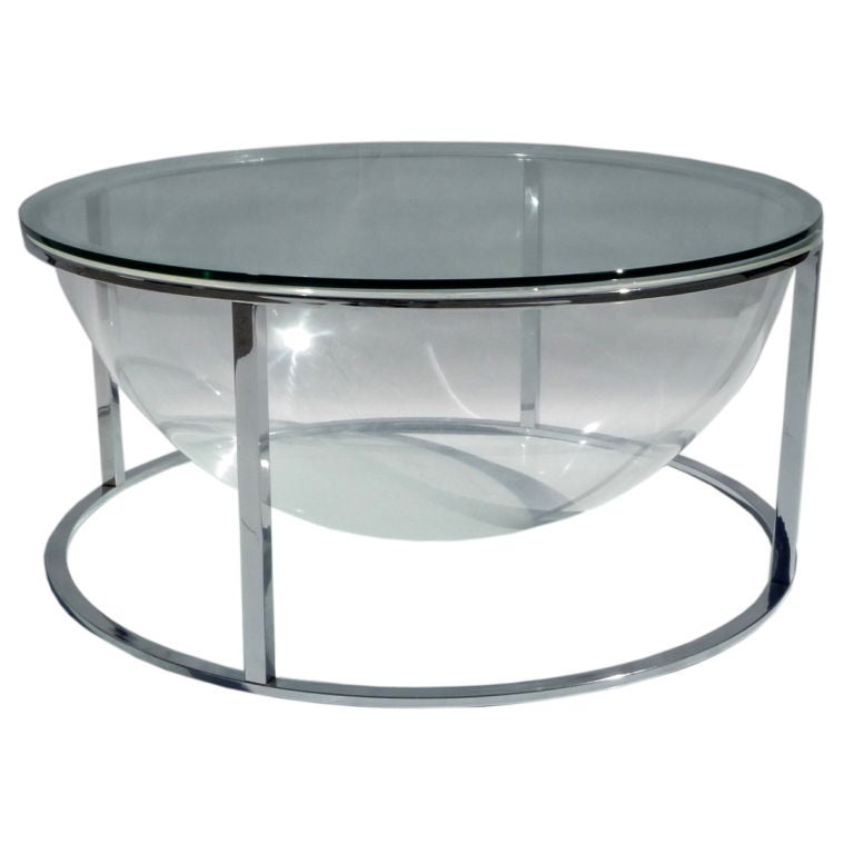 Lucite And Chrome Terrarium Coffee Table At 1stdibs