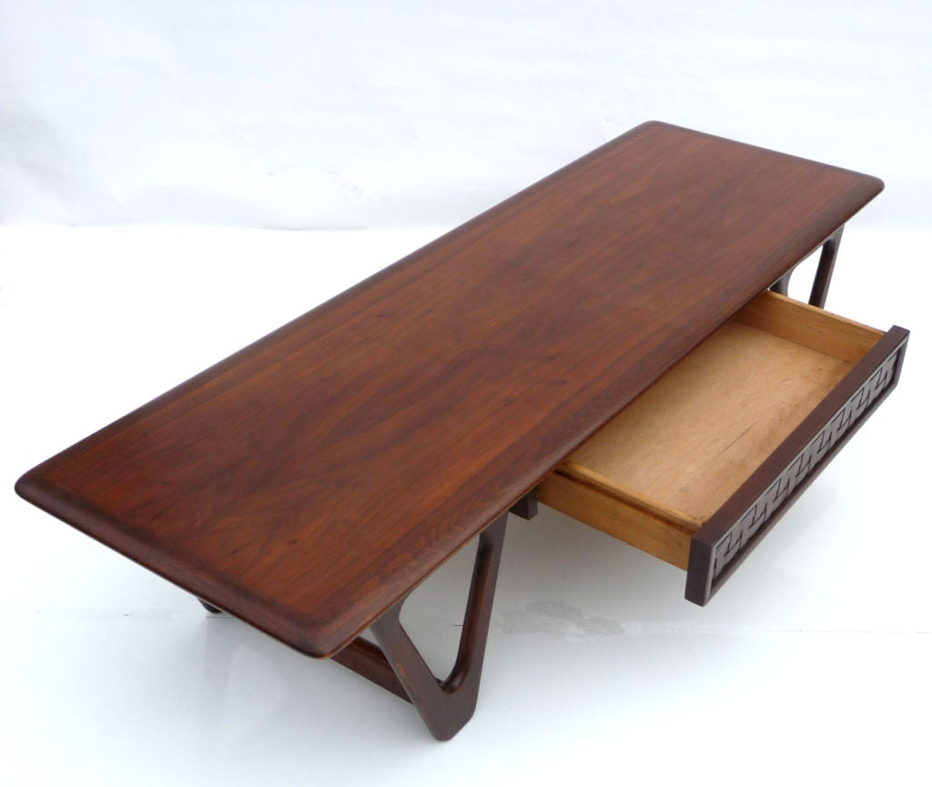Walnut Mid Century Coffee Table By Warren Church For Lane
