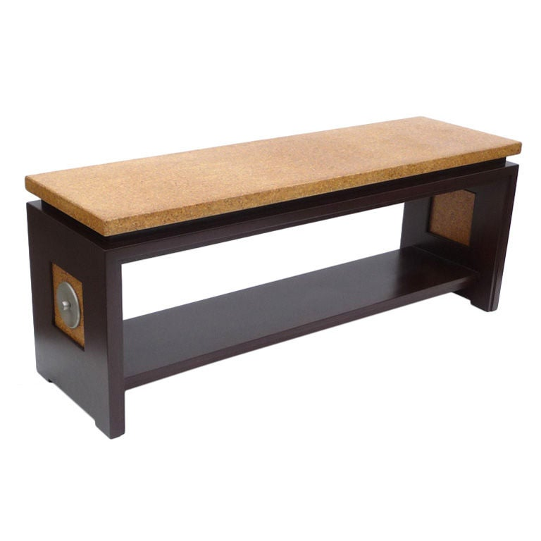 Unique paul frankl cork top console table at 1stdibs for Unique console tables for sale