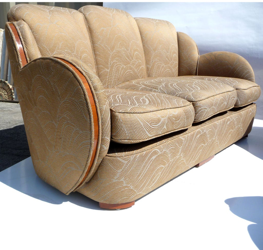 Art Deco Cloud Sofa Set By H And L Epstein Of London For Sale A