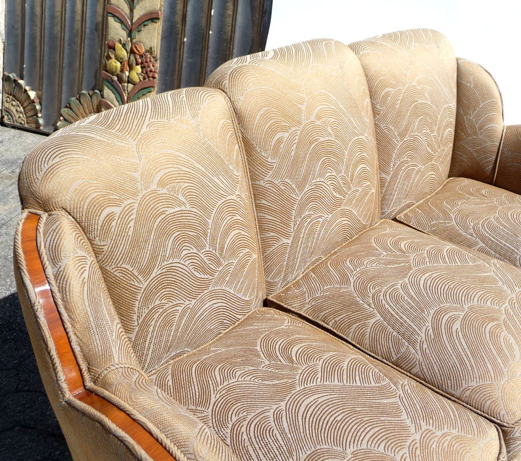 Art Deco Cloud Sofa Set By H And L Epstein Of London At 1stdibs
