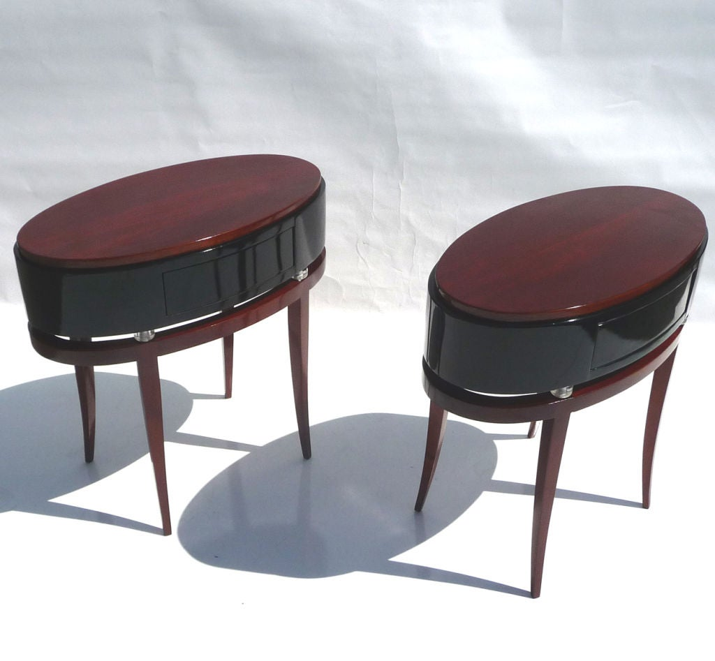 Art deco oval drum side tables at 1stdibs for Drum side table