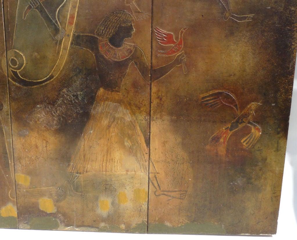 Giovanni majoli egyptian mural from ss ausonia ocean liner for Egyptian wall mural