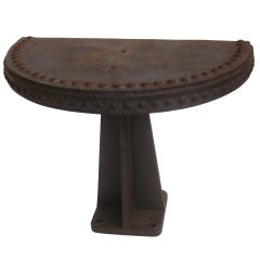 Cast Iron Industrial Console Tables - Two Available