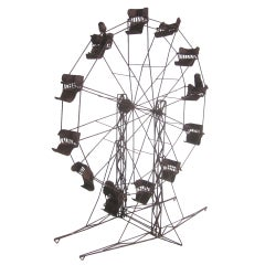 Intricate Folk Art Ferris Wheel