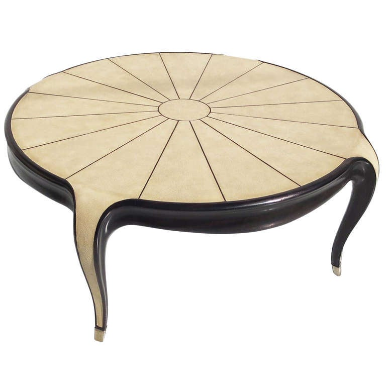 Superbe Art Deco Style Shagreen Coffee Table For Sale