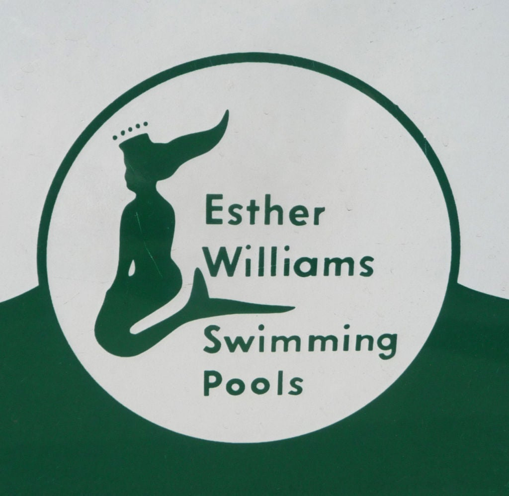 Esther Williams Swimming Pool Porcelain Enameled Sign At 1stdibs