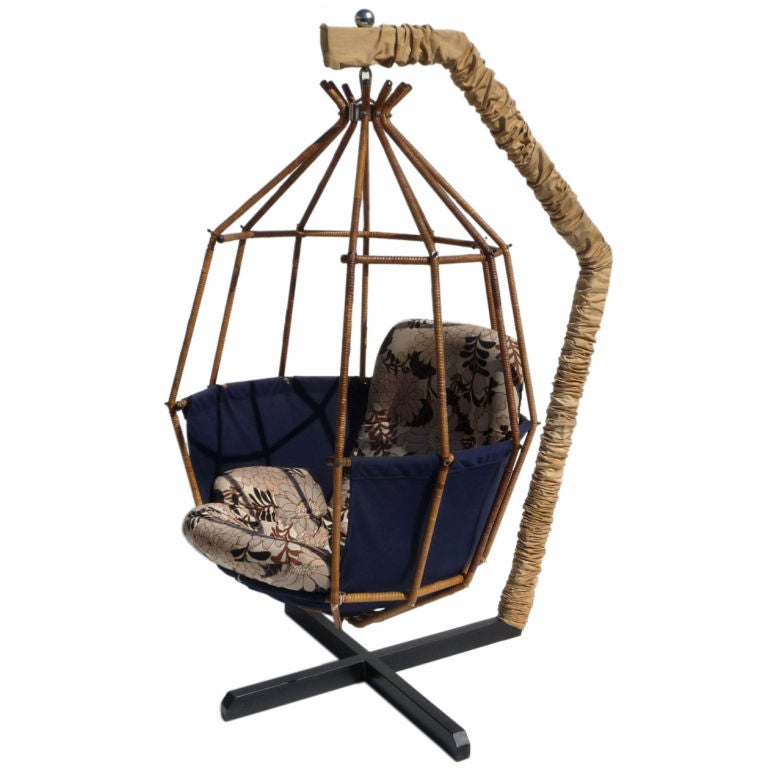 Charmant Hanging Cage Chair By Ib Arborg For Sale