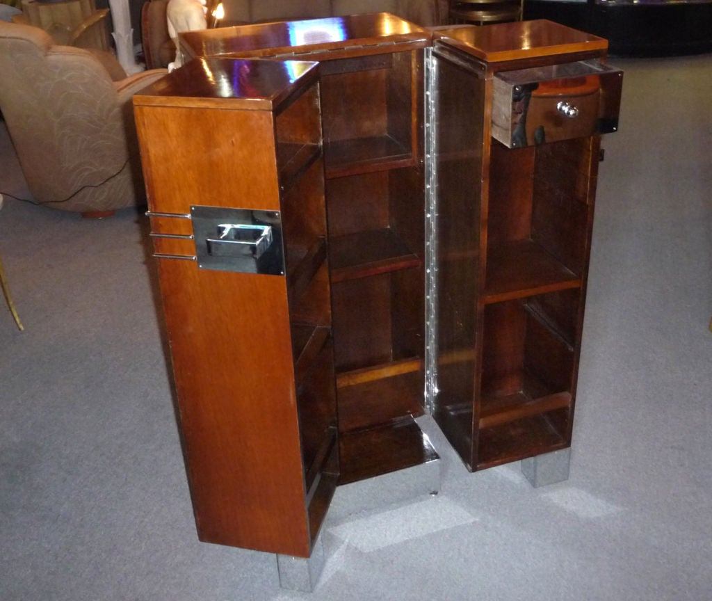 French art deco folding bar cabinet at 1stdibs for Sellaro arredamenti