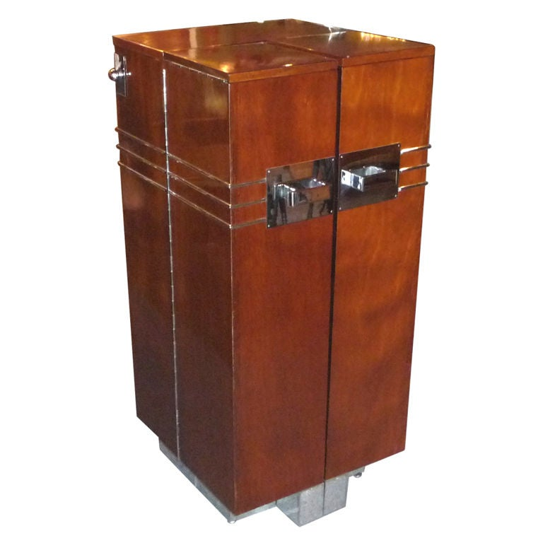 French Art Deco Folding Bar Cabinet At 1stdibs