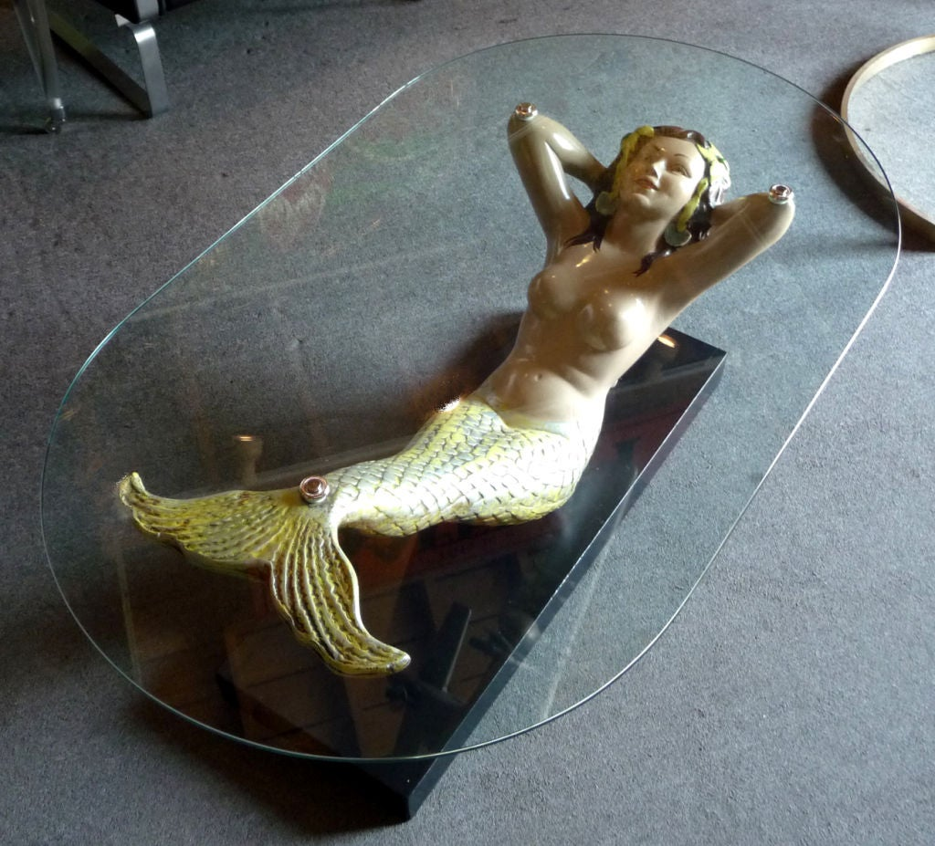 painted mermaid coffee table at 1stdibs