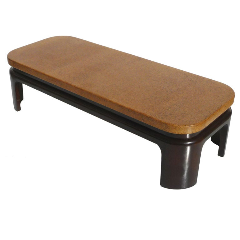 Paul Frankl Cork Topped Coffee Table At 1stdibs