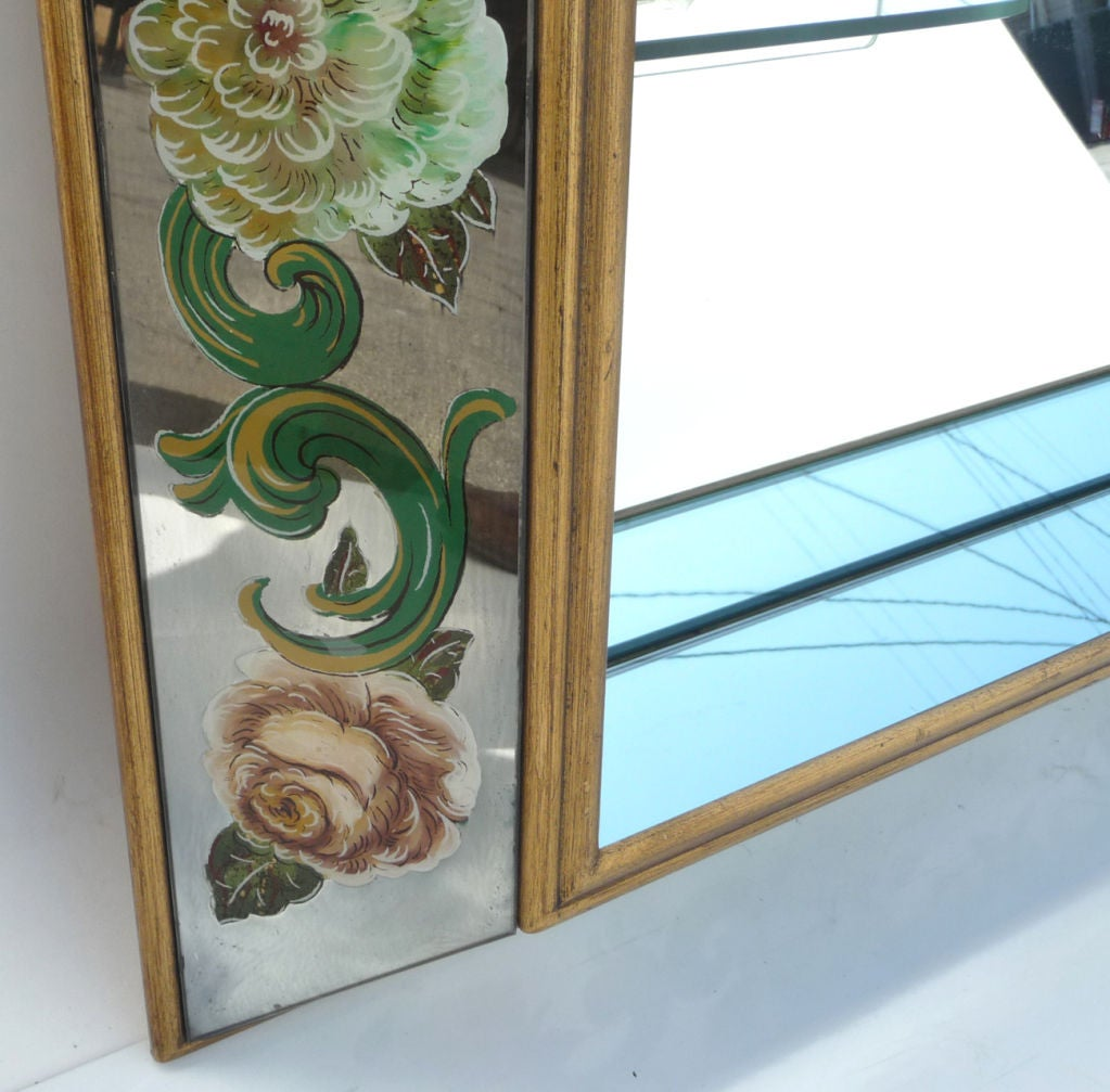 Reverse Painted Eglomise Shadow Box Mirror At 1stdibs