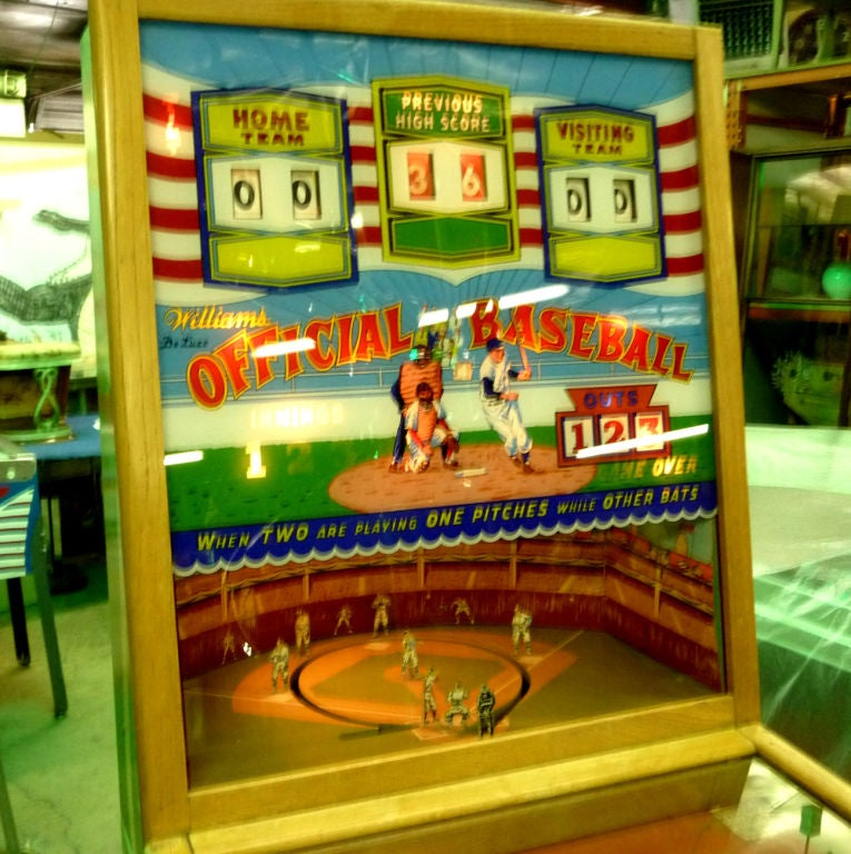 "Williams ""Official Baseball"" Pitch and Hit Arcade Game image 10"