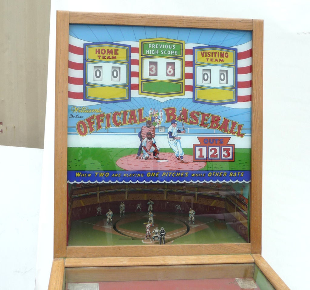 "Williams ""Official Baseball"" Pitch and Hit Arcade Game image 2"