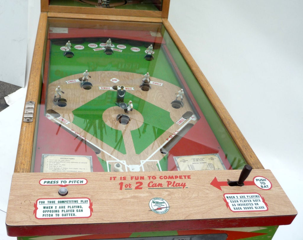 "Williams ""Official Baseball"" Pitch and Hit Arcade Game image 3"