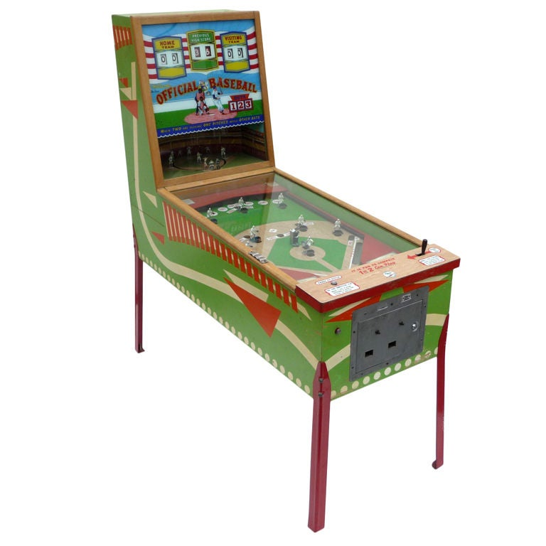 "Williams ""Official Baseball"" Pitch and Hit Arcade Game"