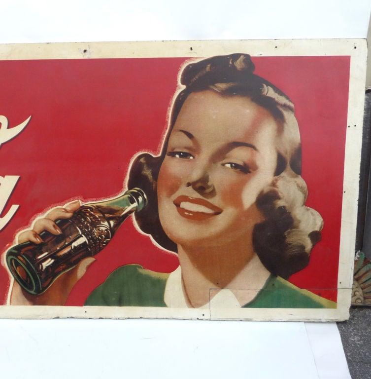 Coca Cola Oversized Advertisement on Masonite Board 4