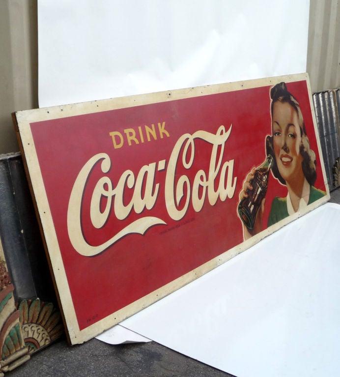 Coca Cola Oversized Advertisement on Masonite Board 8