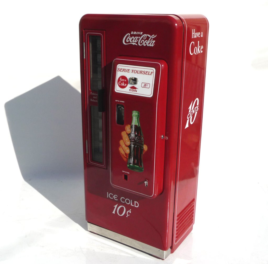 Restored vintage coke machines