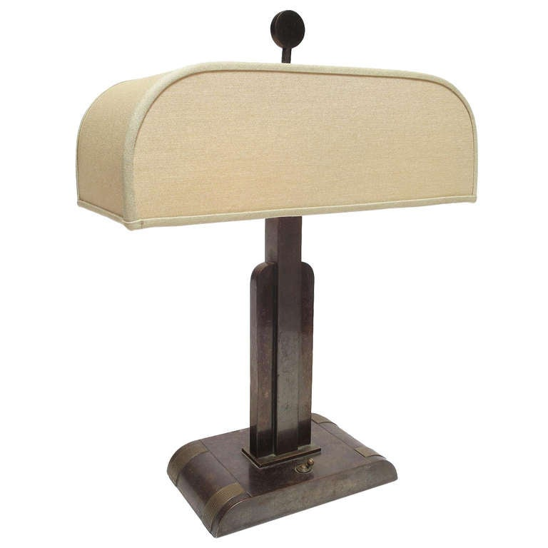 Art Deco Bronze Table Lamp By Kem Weber At 1stdibs