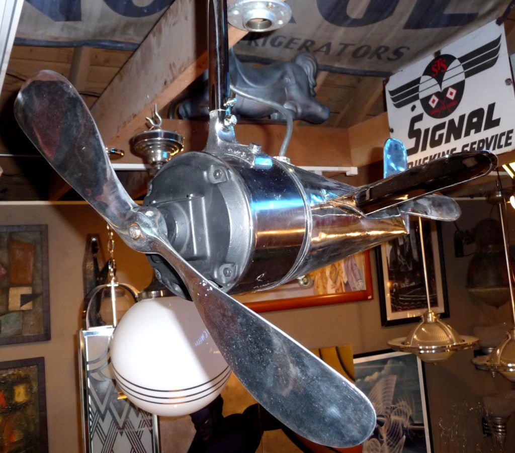 Art Deco Airplane Ceiling Fan At 1stdibs