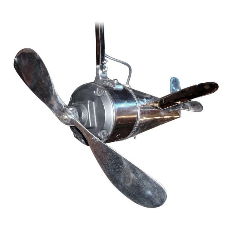 Art Deco Airplane Ceiling Fan