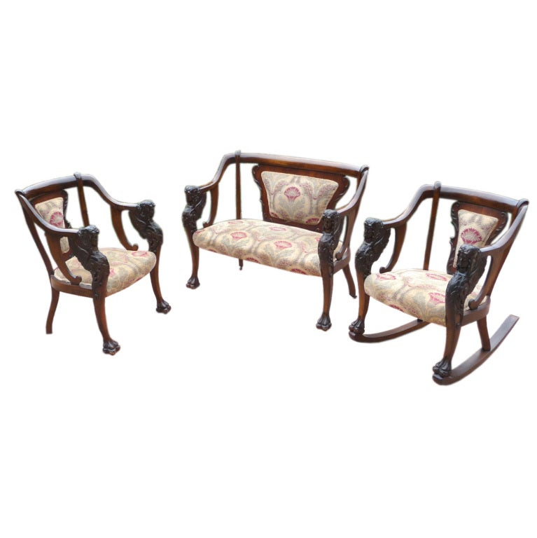 Art Nouveau Jenny Lind Seating Group At 1stdibs