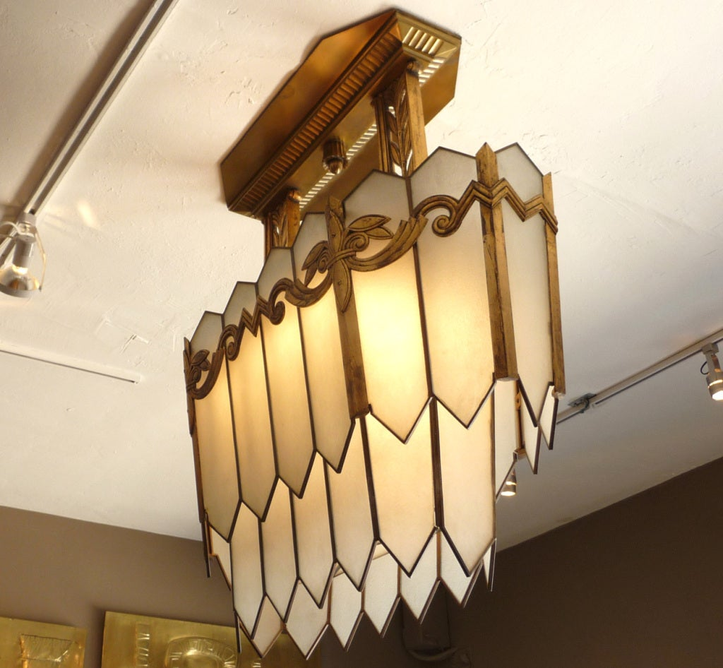 Art deco chandelier from chicago opera house at 1stdibs for Art deco furniture chicago