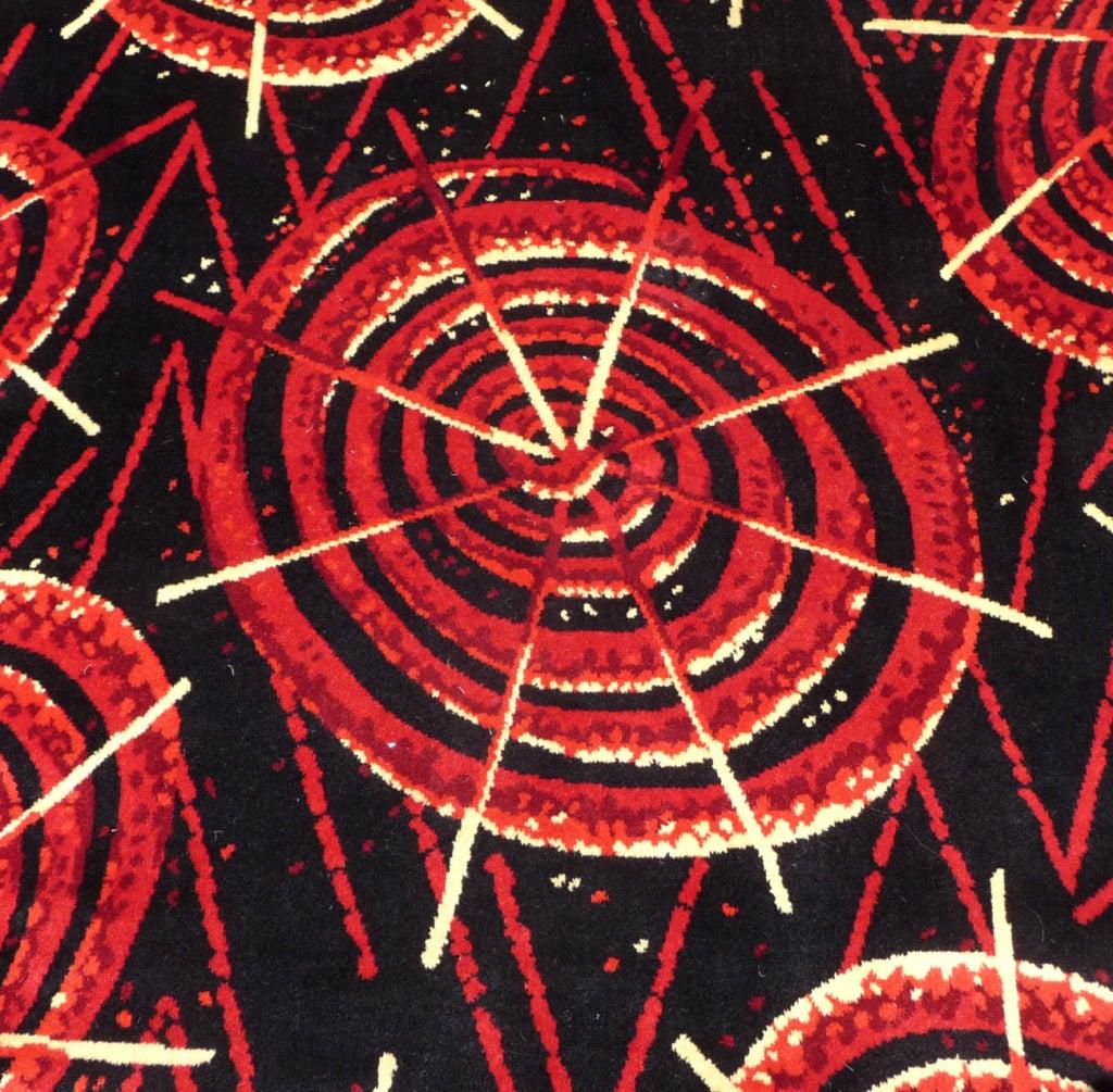 Mid Century Atomic Pinwheel Design Rug At 1stdibs