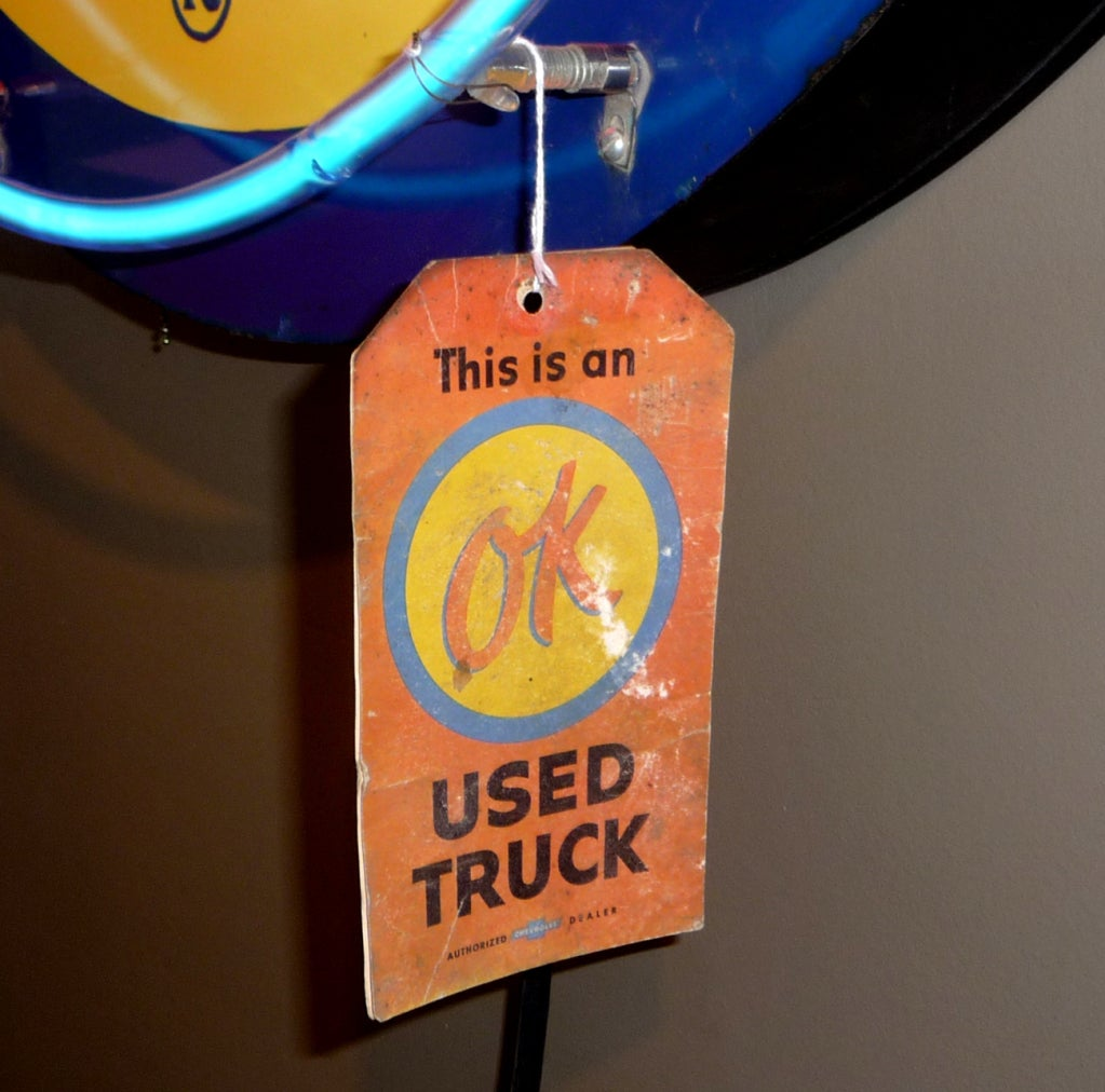 OK Chevrolet Neon and Porcelain Advertising Sign image 6