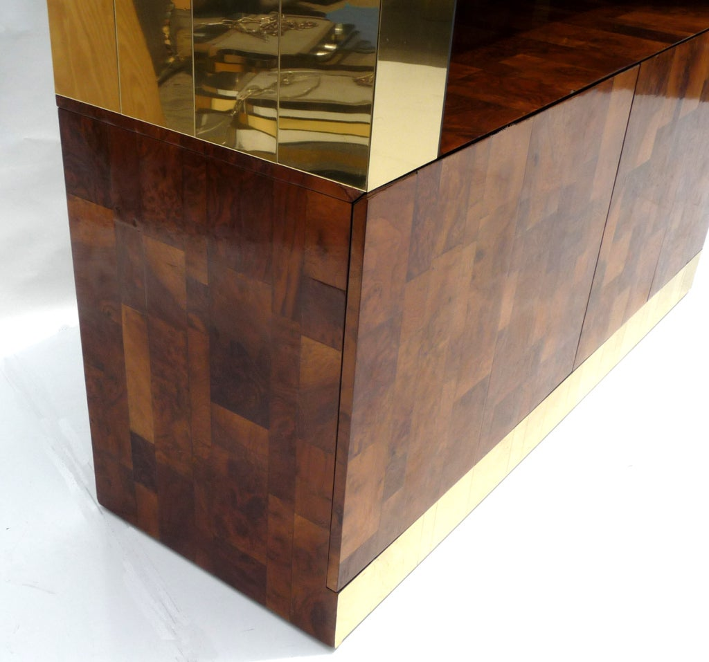 Paul Evans Large Scale Cityscape Bar Patchwork Cabinet At