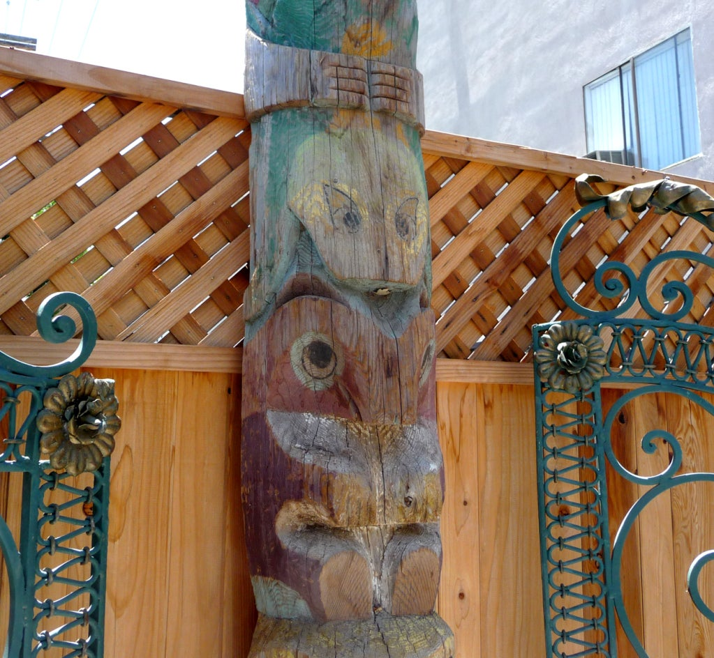 Pacific Northwest Carved Totem Pole image 3