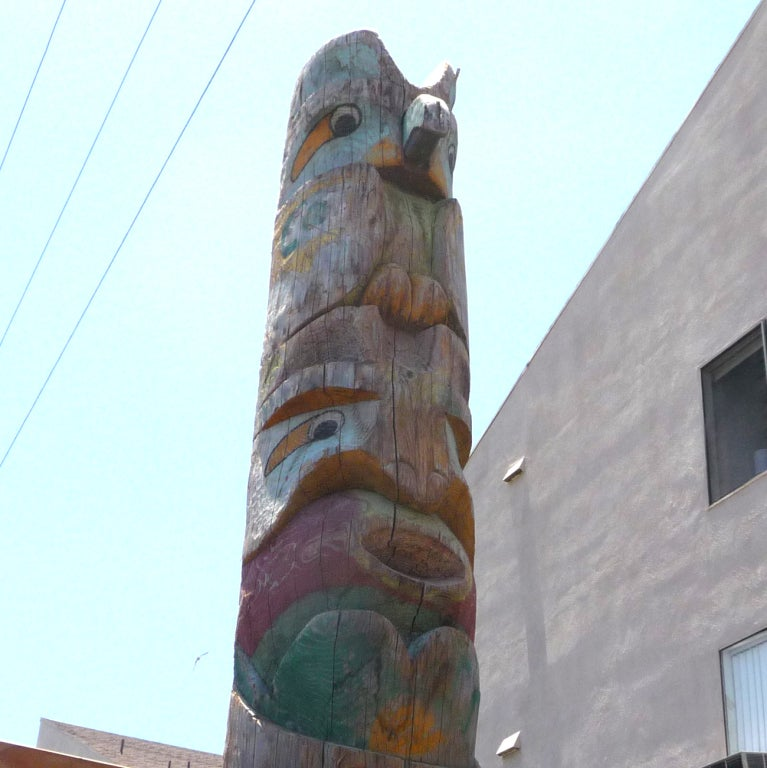 Pacific Northwest Carved Totem Pole image 4