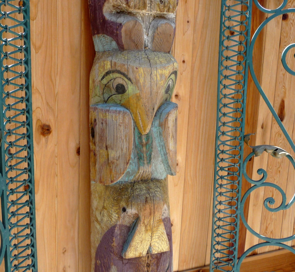 Pacific Northwest Carved Totem Pole image 5
