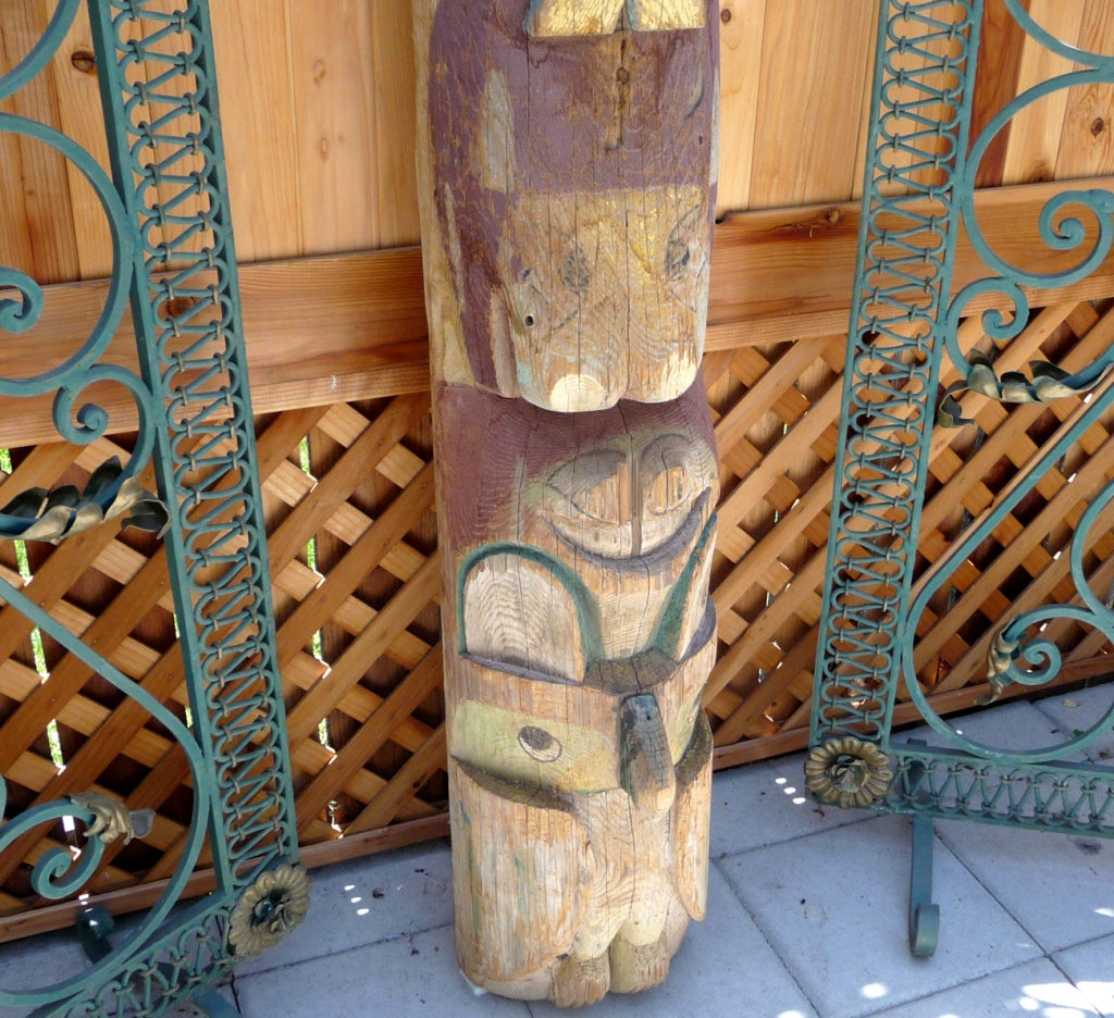 Pacific Northwest Carved Totem Pole image 6