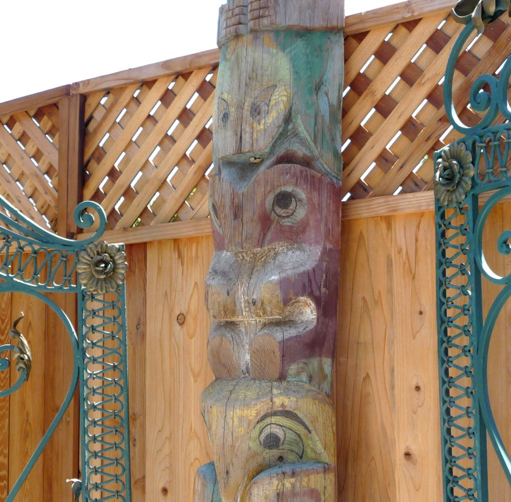 Pacific Northwest Carved Totem Pole 9