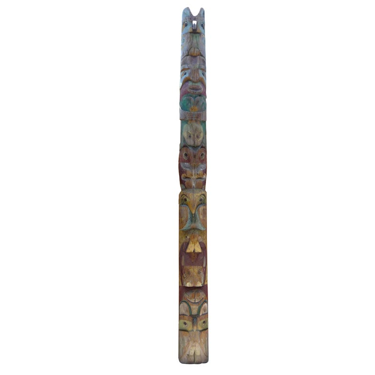 Pacific Northwest Carved Totem Pole