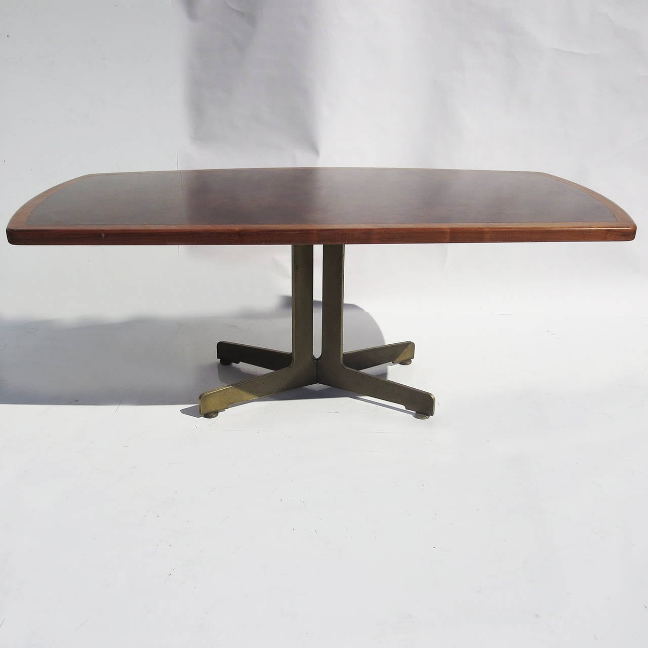 Copper Dining Room Tables: Walnut, Bronze And Acid Etched Copper Dining Table By