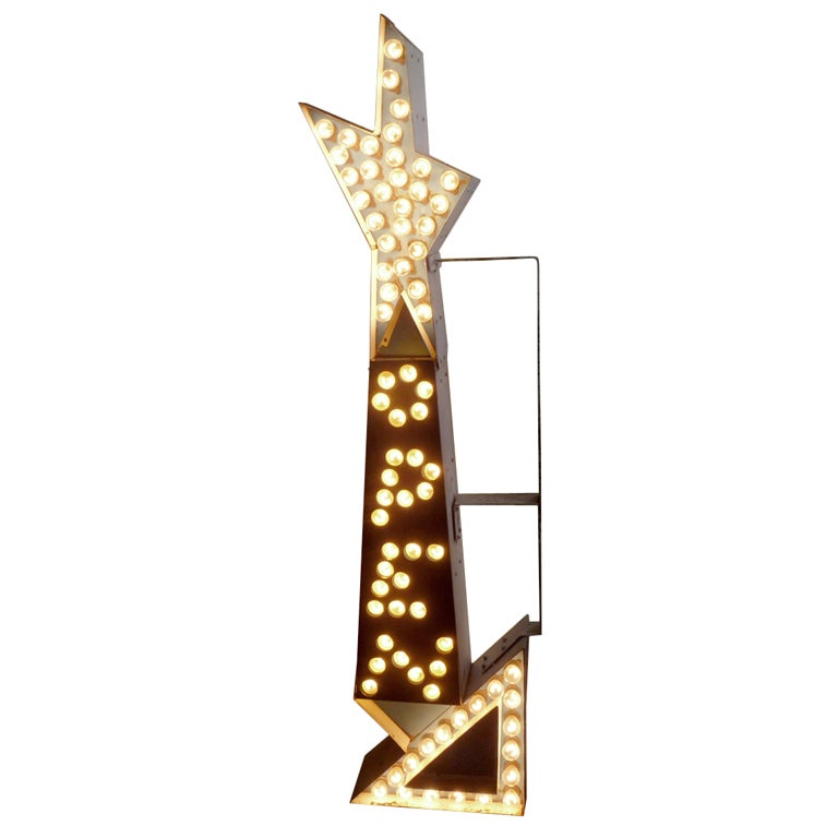 Double Sided Lighted Open Arrow Sign at 1stdibs