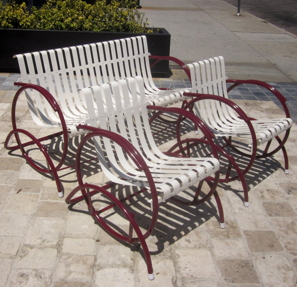 Art Deco Glider Patio Seating Set At 1stdibs