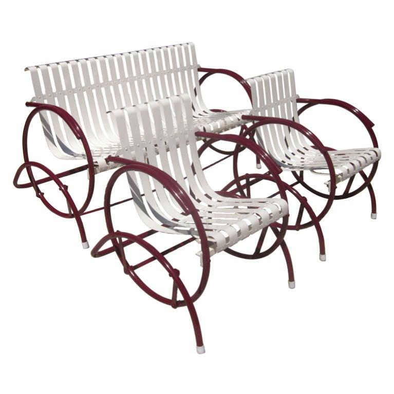Art Deco Glider Patio Seating Set At 1stdibs