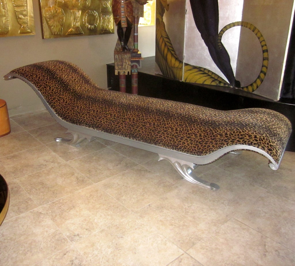 Warner Brothers Prop Leopard Chaise Longue At 1stdibs