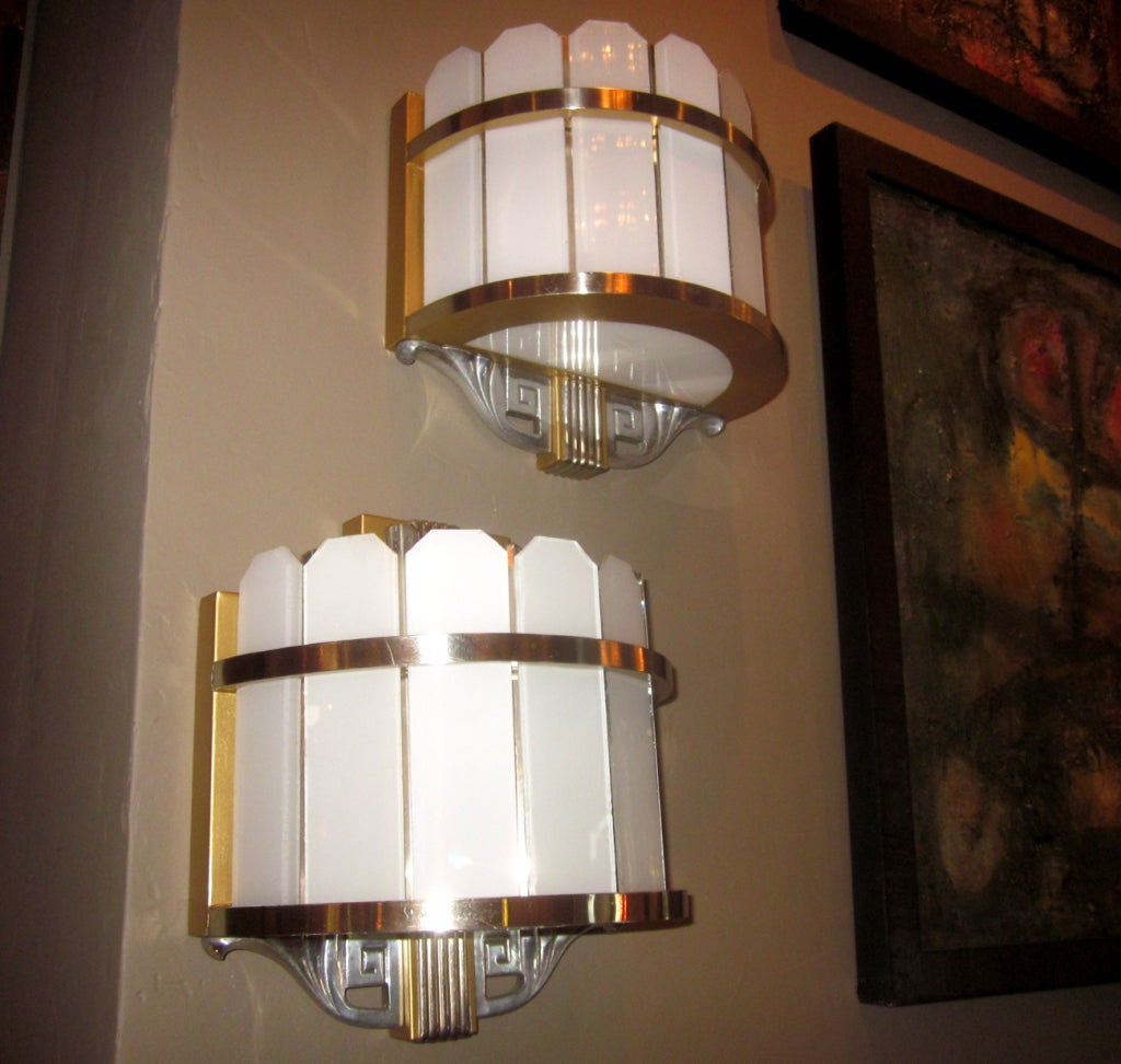 Home Theater Wall Lamps : Pair of Art Deco Theater Wall Lamps at 1stdibs