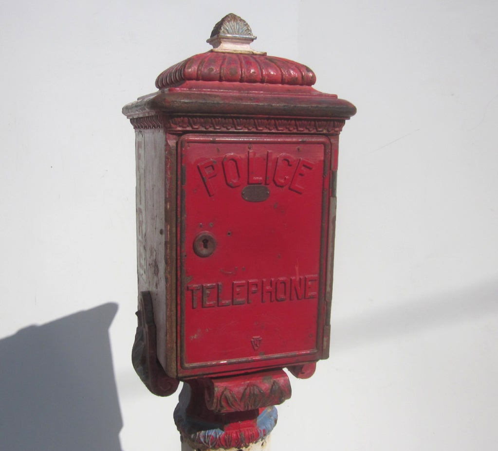 Cast Iron Police And Fire Call Box At 1stdibs