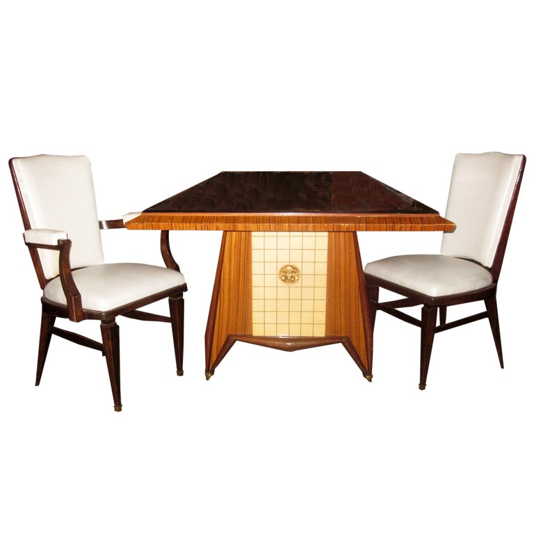 Impressive French Art Deco Dining Room Suite 1