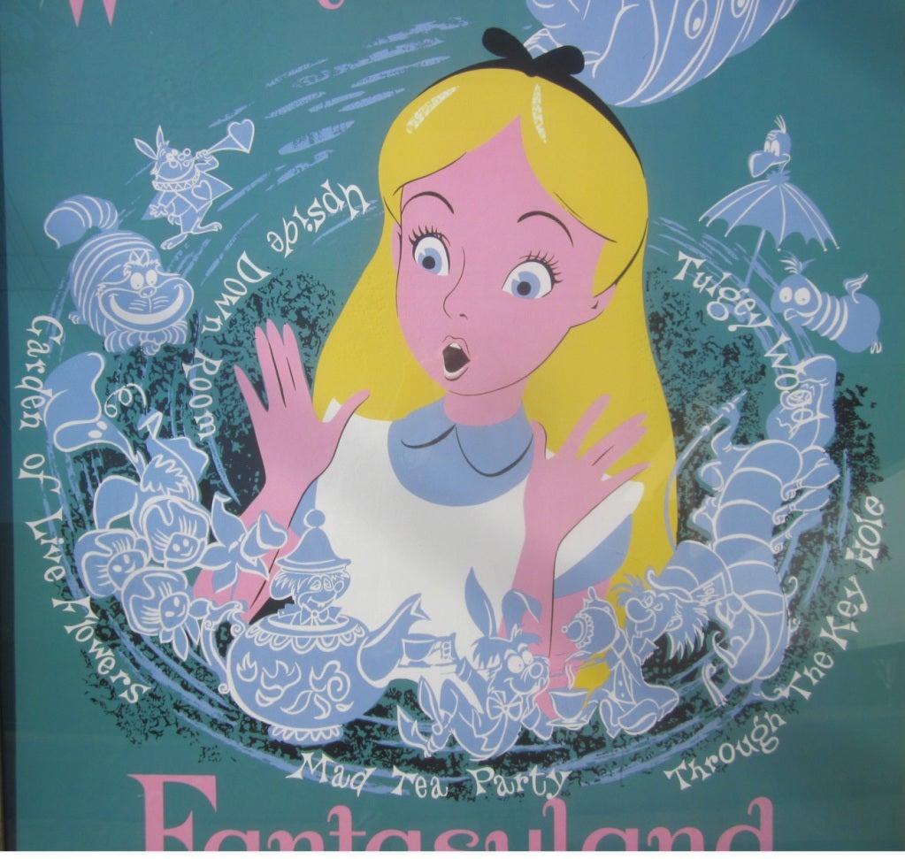 Alice In Wonderland Disneyland Attraction Poster 2
